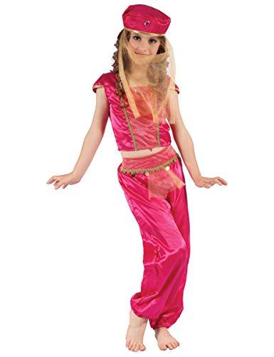 generique Costume da odalisca rosa oro per bambina 4 6 anni (104 116)
