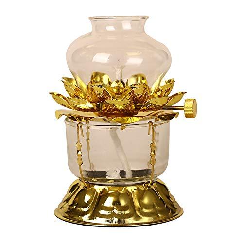 Zarte Nostalgie Petroleumlampe Horse Lamp Mittelmeer buddhistischen Supplies Buddha Öllampen Haushalts Butter Lampe Haushalt Winddichtes Kerzenleuchter Flüssige Butter Lamp Vintage Oil Schreibtischlam