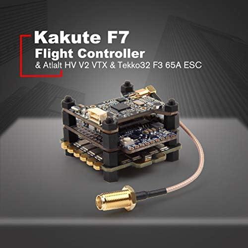 Leoboone Holybro Kakute F7 Flight Controllers & Atlalt HV V2 40CH VTX & 65A BL_32 Tekko32 F3 Metall 4in1 65A ESC Combo für RC Drone