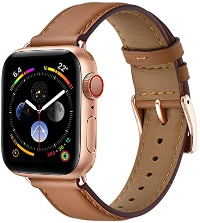 Gold watch brown leather band