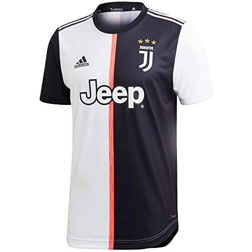 adidas 2019-20 Juventus Authentic Home Jersey - White-Black L