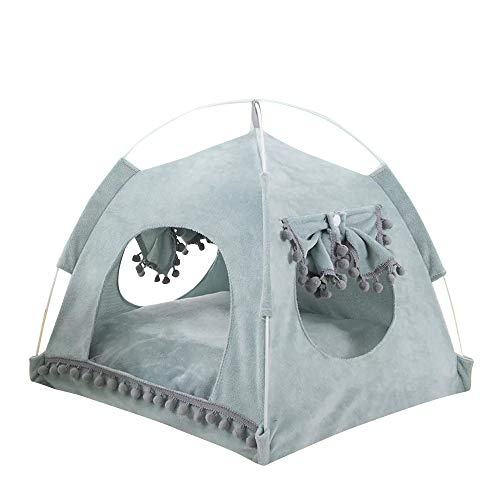 thematys Hundebett I Luxus-Katzenhöhle I Hunde-Schlafplatz I Hundekorb I Hochwertiger Katzenkorb I Katzen-Zelt (Style 5, XL (58 x 58 x 56 x 42 cm))