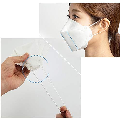 『HINCINK 20枚 個包装マスク 4層構造 不織布 通気性 超快適 立体型マスク 在庫あり (10, ホワイト)』の2枚目の画像