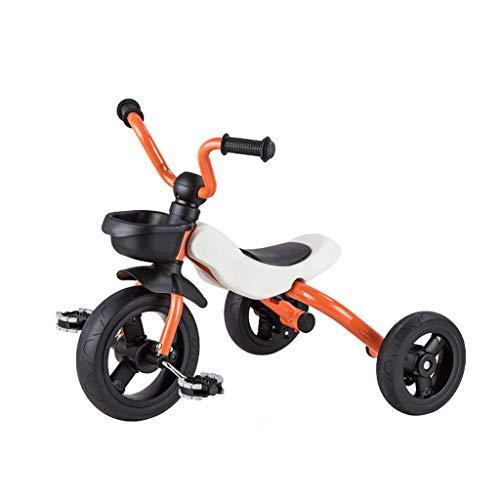 Triciclo Trike Triciclo triciclo, plegable multifunción Niños 2-en-1 Triciclo de forma gratuita, 2-6 bebé de los años al aire libre Triciclo, 4colors, 53x63x45cm (color: rojo) ( Color : Orange )