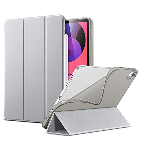 ESR Slim Smart Case for iPad Air 4 2020 10.9 inch [Viewing/Typing Stand Modes] [Flexible TPU Back] Rebound Series, Grey