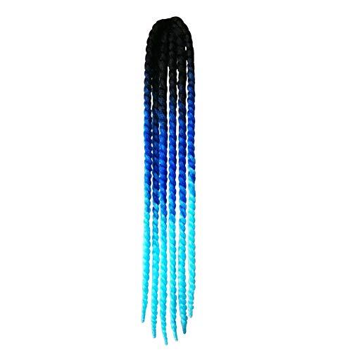 POHOVE Casco Pigtails degradado trenzas torcidas para casco con ventosa, para motocicleta, bicicleta, deportes de nieve, patinaje, patinaje