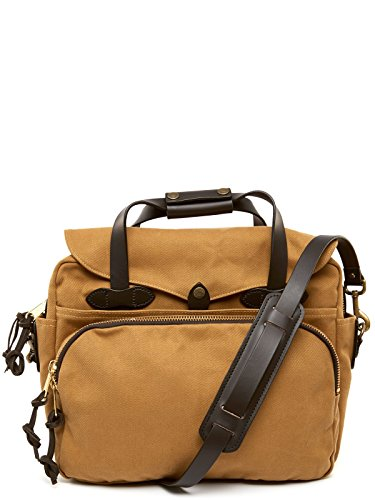 FIlson Padded Laptop Bag/Briefcase One Size Tan - Best for School, Business, Day Trips, and Travel Use - Computer / Tech Bag