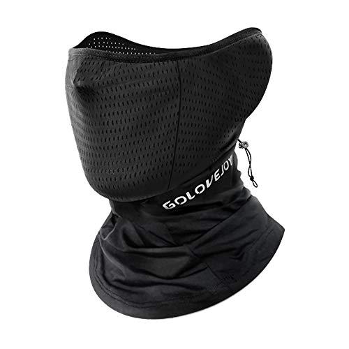 フェイスカバー バイク ネックガード ネックカバー 接触冷感 UVカット 紫外線対策 吸汗速乾 伸縮 通気性優れ息苦しくない スポーツ アウトドア 自転車 バイク 釣り 登山用 (ブラック)