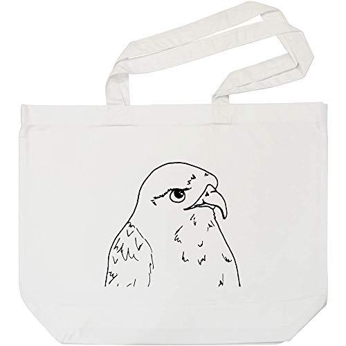 Azeeda \'Bussard Vogel\' Weiße Einkaufstasche (BG00004386)