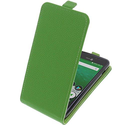 foto-kontor Tasche für Doro 8035 Smartphone Flipstyle Schutz Hülle grün