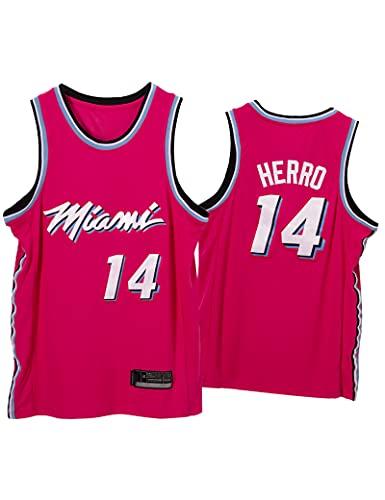 Kfdfns Baloncesto para Hombre 2021 Jersey Miami Heat NBA # 14 Tyler Herro Chaleco Deportivo Transpirable Top Sudadera sin Mangas Camiseta Chaleco Top
