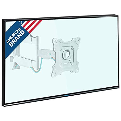 """ONKRON TV Wandhalterung Halterung für 17""""-43"""" Zoll Bildschirme VESA 100x100 bis 200x200 mm schwenkbar neigbar NP28 Weiß"""