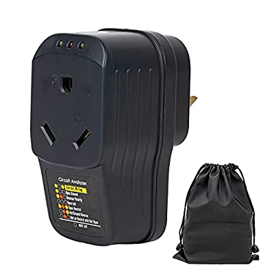 RV Surge Protector 30 Amp, Adapter Circuit Analyzer with LED Indicator Light, Ideal Camper Accessories for Travel Trailers, 30 Amp Male to 30 Amp Female Portable Surge Protector for RV Trailer Camper