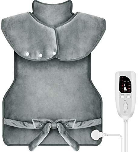 DIZA100 Heizkissen für Rücken Schulter Nacken,94 x 56 cm Elektrisch Wärmekissen mit Abschaltautomatik Heizdecke...