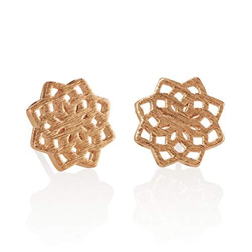 NAMANA Mandala Ohrstecker, gebürstetes Finish, verschiedene Gold und Silber Finish, geometrische Ohrringe, nickelfreie und bleifreie Ohrringe,...