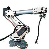 B Blesiya Brazo Robótico Mecánico de 6 Dof de Ensamblaje para Arduino, Juguete de Experimento Científico para Niños Adultos