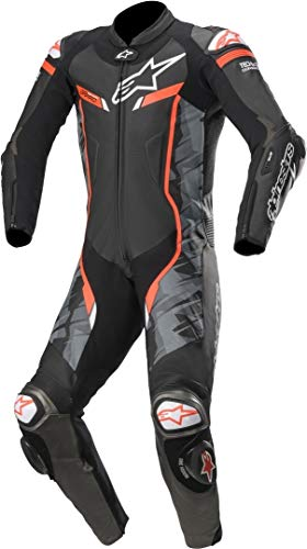 Alpinestars GP Pro v3 Tech-Air Tuta in pelle traforata moto di One Piece Nero/Rosso 48