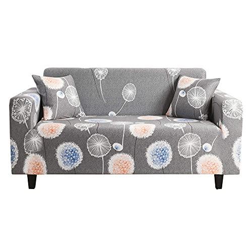 WLVG Fundas de sofá 1 2 3 4 plazas Funda de sillón de Diente de león Gris Estiramiento en Forma de l Funda para sofá Funda Protectora para sofá en Forma de L para Perros Sofás Cama Mascota Gato 9