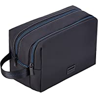 ZEEMO Water-resistant Toiletry Bag with 2 Compartments (Black)