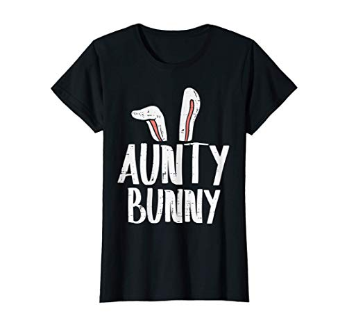 Mujer Aunty Bunny Ears Easter Family Matching Auntie Aunt Women Camiseta