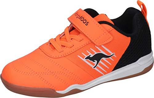 KangaROOS Unisex-Kinder Super Court EV Sneaker, Neon Orange/Jet Black 7950, 31 EU