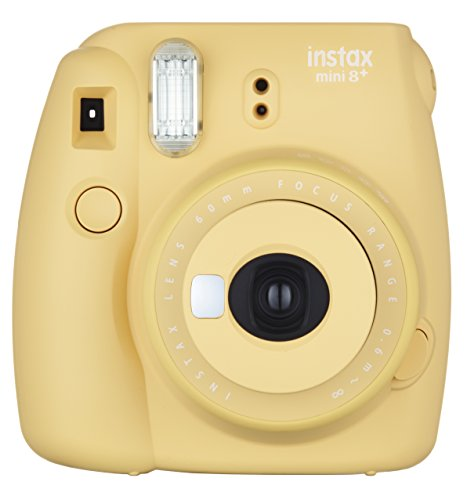 Fujifilm Instax Mini 8+ (Honey) Instant Film Camera + Self Shot Mirror for Selfie Use - International Version