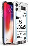 Personalizado Tarjeta De Embarque: Las Vegas Estuche delgado para iPhone 11 | Claro Silicona TPU Protector Ligero Ultra Thin Cubrir Modelo Impreso | Personalizado Viajero Pasión De Viajar Avión Boleto