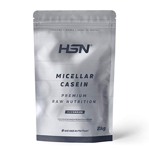 Caseína Micelar de HSN | Proteína de Lenta Digestión | Ideal para Antes de Dormir | Sin Edulcorantes Sin Endulzantes | Vegetariano, Sin Gluten, Sin Sabor, 2 Kg ⭐