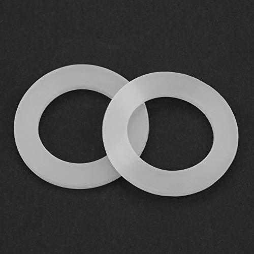 Xuzuyic Arandelas de Sellado de Junta tórica de Silicona de Junta Plana 12 Piezas Blancas Arandelas de Sellado de Silicona usable(1.2 Inch)
