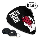 TONICKZILLA Green Day グリーン・デイ ギターピック オシャレ ベース、カポタスト ギター、カポ アコースティックギター、ウクレレ、エレキギター用 ピック トライアングル 6枚セット プレゼント