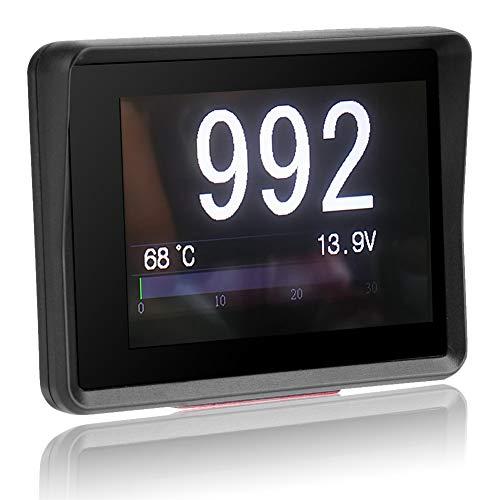Coche OBD Multímetro Digital Temperatura Voltaje Velocidad HUD Pantalla Negro