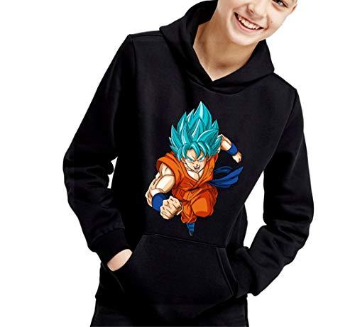 The Fan Tee Sudadera de NIÑOS Dragon Ball Goku Vegeta Bolas de Dragon Super Saiyan 072 12-13 años