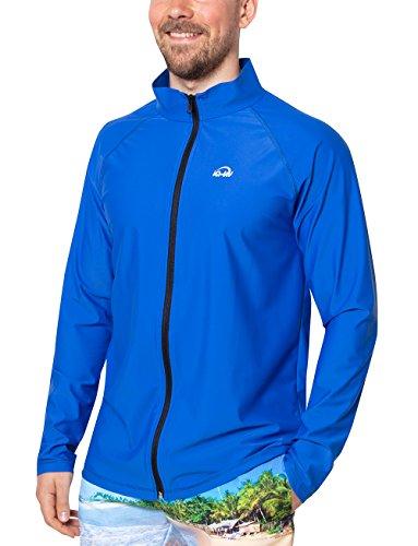 iQ-UV Herren 300 Reissverschluss, Regular geschnitten, Langarm, UV-Schutz Jacke, Dark-Blue, L