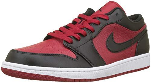 Nike Air Jordan 1 Low, Chaussures de Basketball Homme, Multicolore (Gym Red-White 610), 49.5 EU