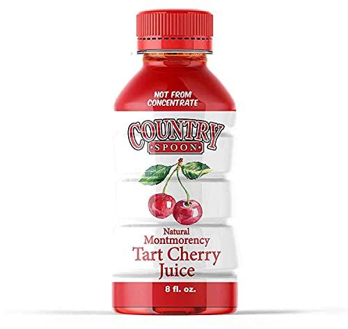 Country Spoon Tart Cherry Juice (70+ Cherries Per 8 oz, 14 Pack), Single Ingredient Drink (Tart Cherries), Anti-inflammatory, Boost Immunity, Improve Sleep, Healthy Fruit Drink