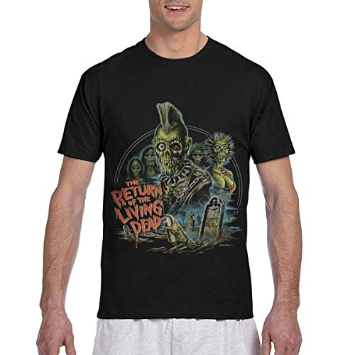 Return of The Living Dead 3D Printing Outdoor Short Sleeve Crew Neck Mans T Shirts 3X-Large Black