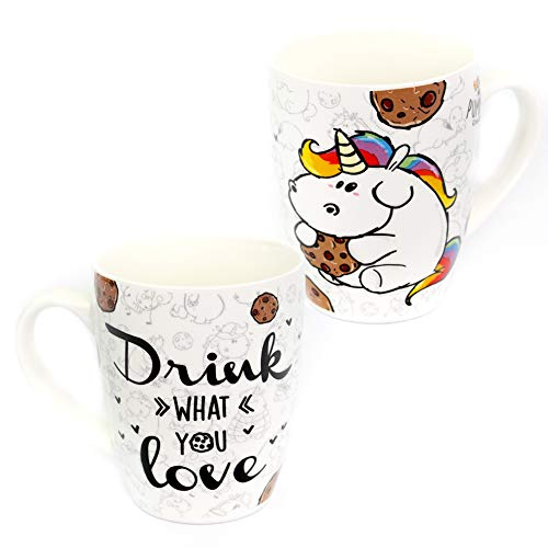 Pummel & Friends - Kaffeetasse (330 ml) - Pummeleinhorn (Drink what you love)