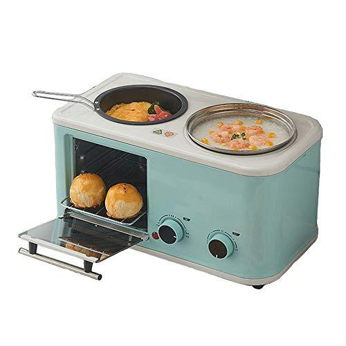 WaLizHb Máquina De Desayuno para El Hogar, Máquina De Cocinar Multifunción, Máquina De Pan De Horno Eléctrico, Tostadora, Tres En Uno, Electrodomésticos De Cocina Perezosa
