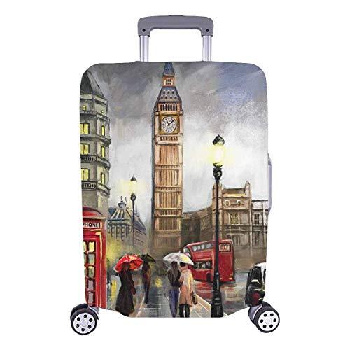 Maleta de Viaje de Londres con Big Ben Travelers Choice con Ruedas giratorias Maleta con Equipaje de 24 Pulgadas