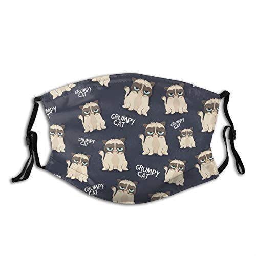 Grumpy Looking Cat Headbands Knit Neck Gaiters Comfortable Cover for Men Women