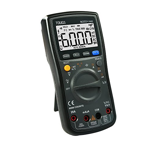 TOUGS M202 True-RMS Autorange Digital Multimeter Elektrischer Multi Tester mit REL und MAX / MIN Datum Hold