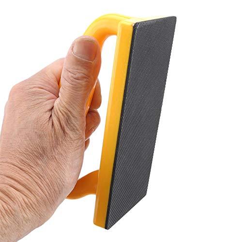 Huaicheng Práctica Sierra de madera duradera de seguridad, herramienta de carpintería, color amarillo (placa de empuje recta + placa de empuje inclinada), 15 x 7 x 8,5 cm