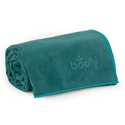 Yoga Handtuch NO SWEAT Towel L, großes Yogatuch, extra saugfähig und schnell trocknend, auch als Yogamatten-Auflage, 185 x 68cm, z. B. für Hot Yoga (petrol)