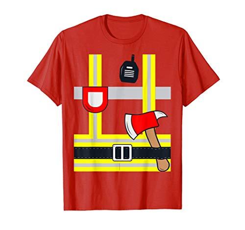 Disfraz de Bomberos Niños Hombre Mujer Camiseta