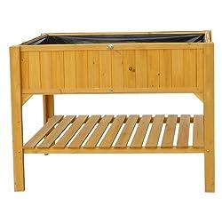 hochbeet holz mit ablage f r balkon und terrasse. Black Bedroom Furniture Sets. Home Design Ideas