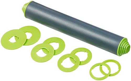 Rosenstein & Söhne Nudelholz: Höhenverstellbarer Teigroller mit Anti-Haft-Effekt, BPA-frei, 30 cm (Ausrollstab)