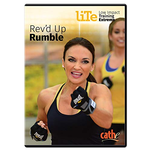 Cathe Friedrich LITE Series (Low Impact Training Extreme) Rev d Up Rumble Kickboxing Exercise DVD