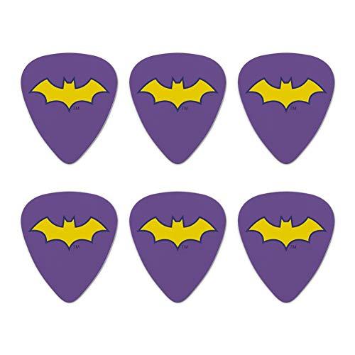 Batman Batgirl Logo Novelty Guitar Picks Medium Gauge - Set of 6