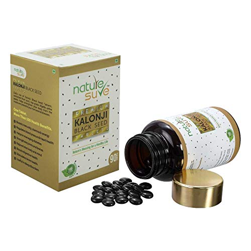Nature Sure Kalonji Tablets for Men and Women (Extracted from Black Seed/ Nigella sativa) – 1 Pack (90 Tablets)
