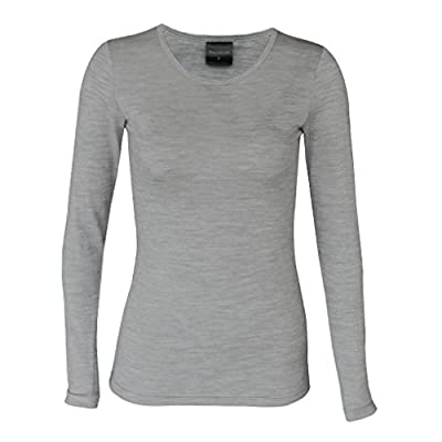Wild South Womens Ultrafine Merino Long Sleeve Crew Neck Tee … (10, Grey Marle) from Wild South Clothing